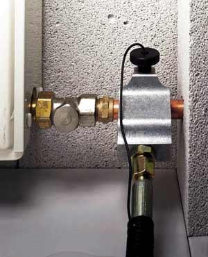 электрическое замораживание трубы